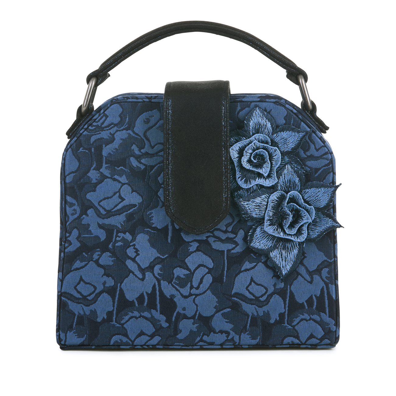 Ruby shoo quebec navy blue flower corsage handbag occasion evening picture 2 of 3 izmirmasajfo