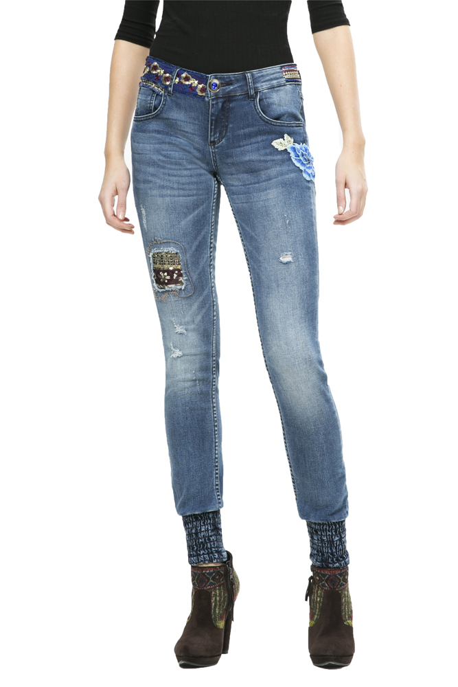 Womens Denim_refriposas Slim Jeans Desigual