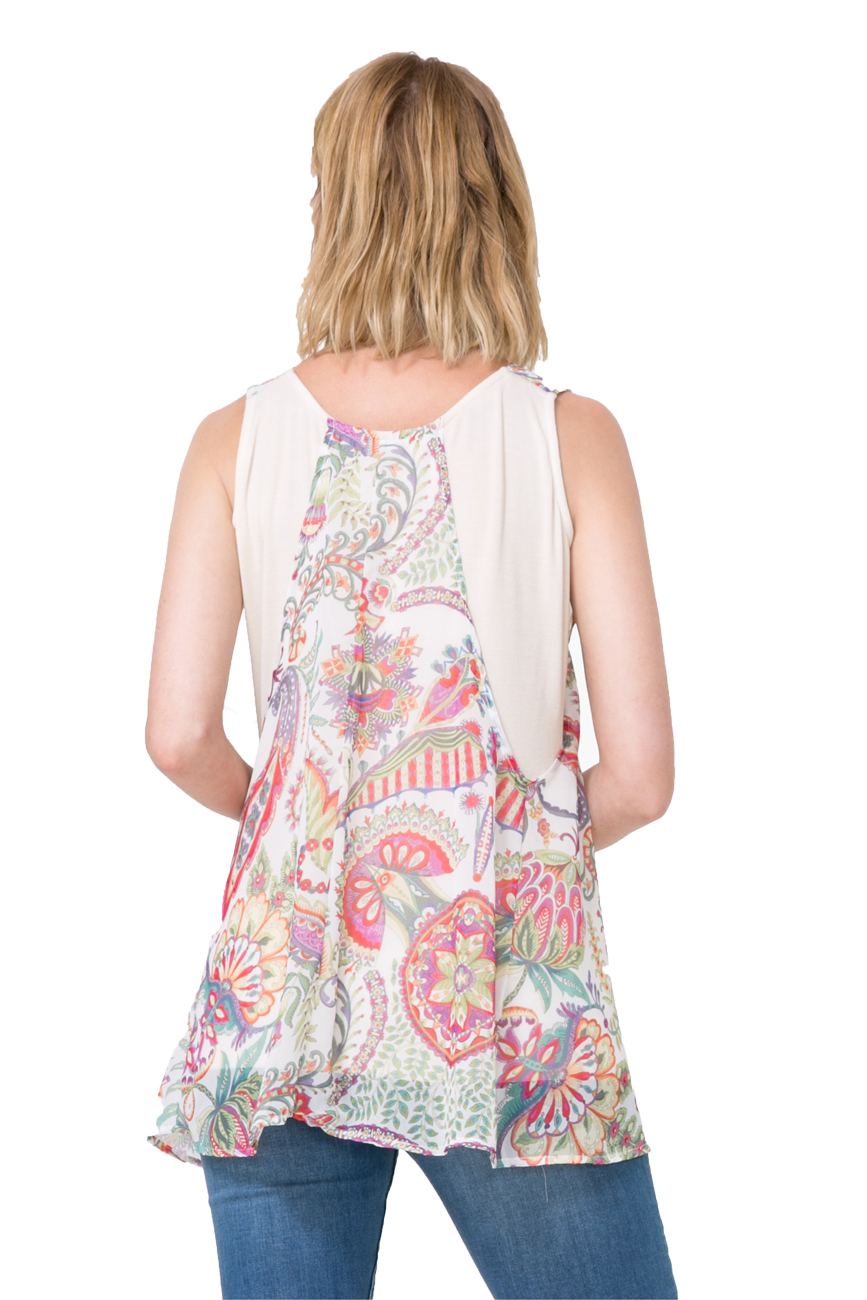 Desigual Blue Adri Floaty Layered Sleeveless Blouse XS-XXL UK 8-18 RRP£54