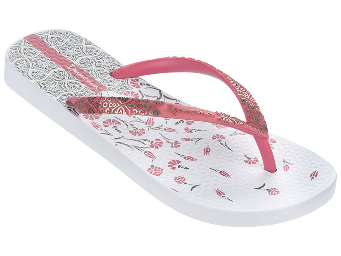 Womenapos S Ipanema Aloe Flower Flip Flops In White Pink From Get