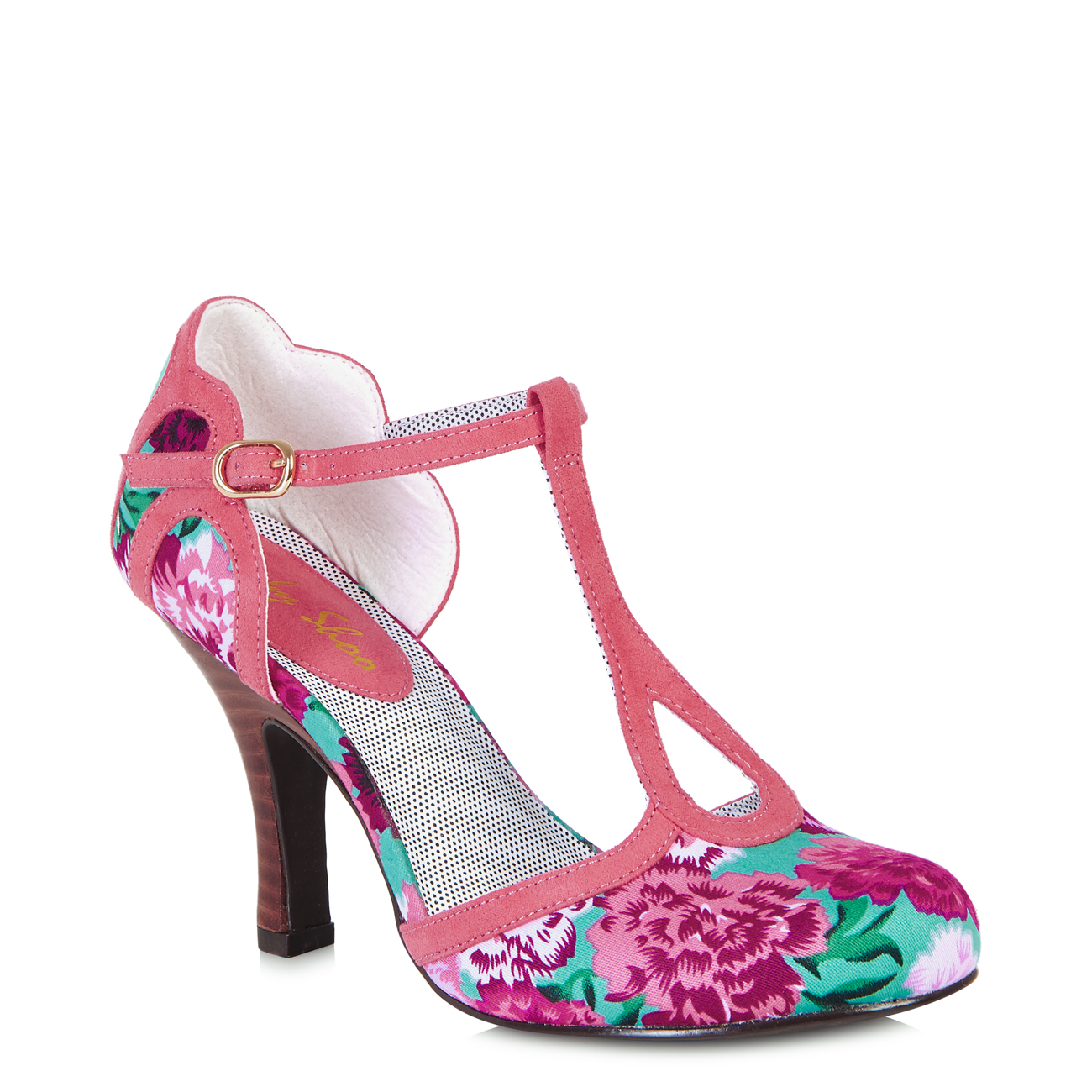 Ruby Shoo Polly Coral Damenschuhe T Bar HEELS 8 Schuhes 6 UK 39 EU 8 HEELS US     60acab