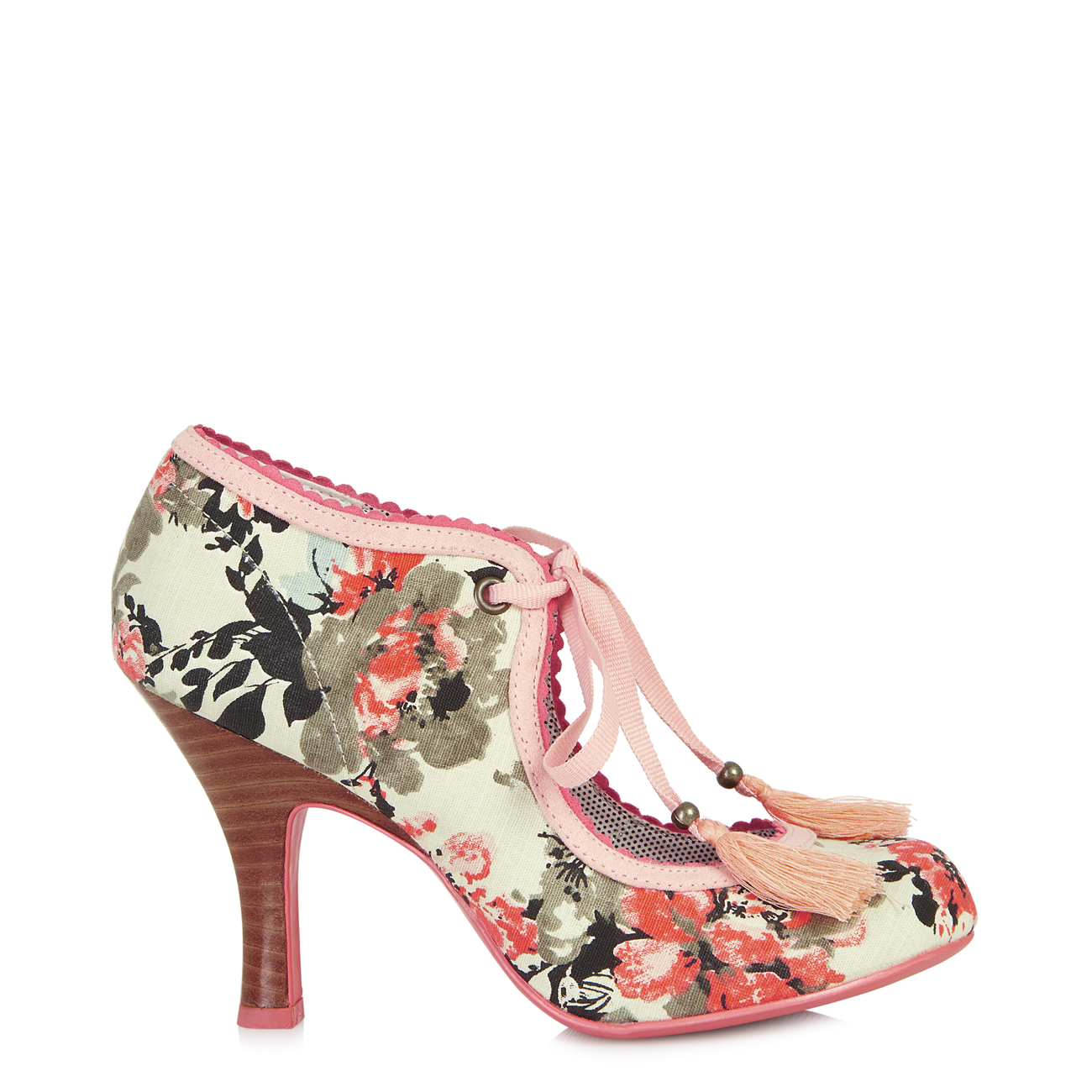 NEW Ruby Shoo Willow Shoe UK3-9 Blue EU36-42 Red Tulip / Blue UK3-9 Peach Coral Aqua Floral 8ead8a