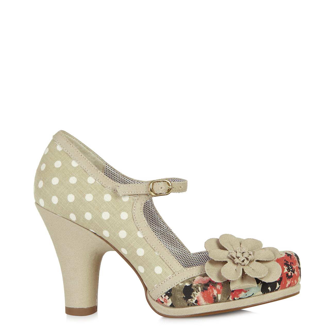 Ruby Shoo Tanya Womens High Heeled Beige Shoes UK 5   EU 38 for sale ... 39d154301f