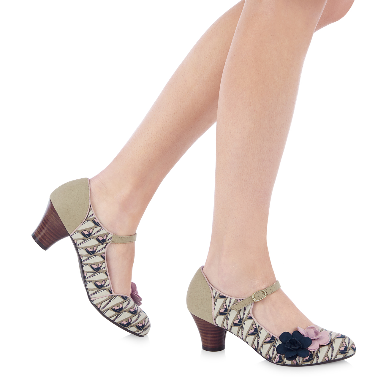 Ruby Shoo Mia Niedrig Heel Mary Jane & 36-42 Matching Belfast Bag 3-9 36-42 & Retro Print 13eeee