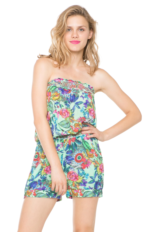 25f013c3b8 Desigual Printed Floral Barbara Playsuit Beach Cover Up S-XL UK 10-16 RRP 44