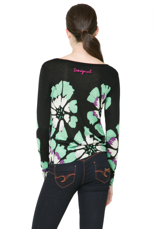 Desigual Women/'s Black Floral Kangur Jumper S-XXL UK 10-18 RRP �84