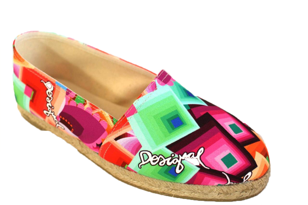 Desigual Beach Plana 11 36-41 Casual 3.5-7  89 Casual 36-41 Cotton Canvas Deck Schuhes ebef38