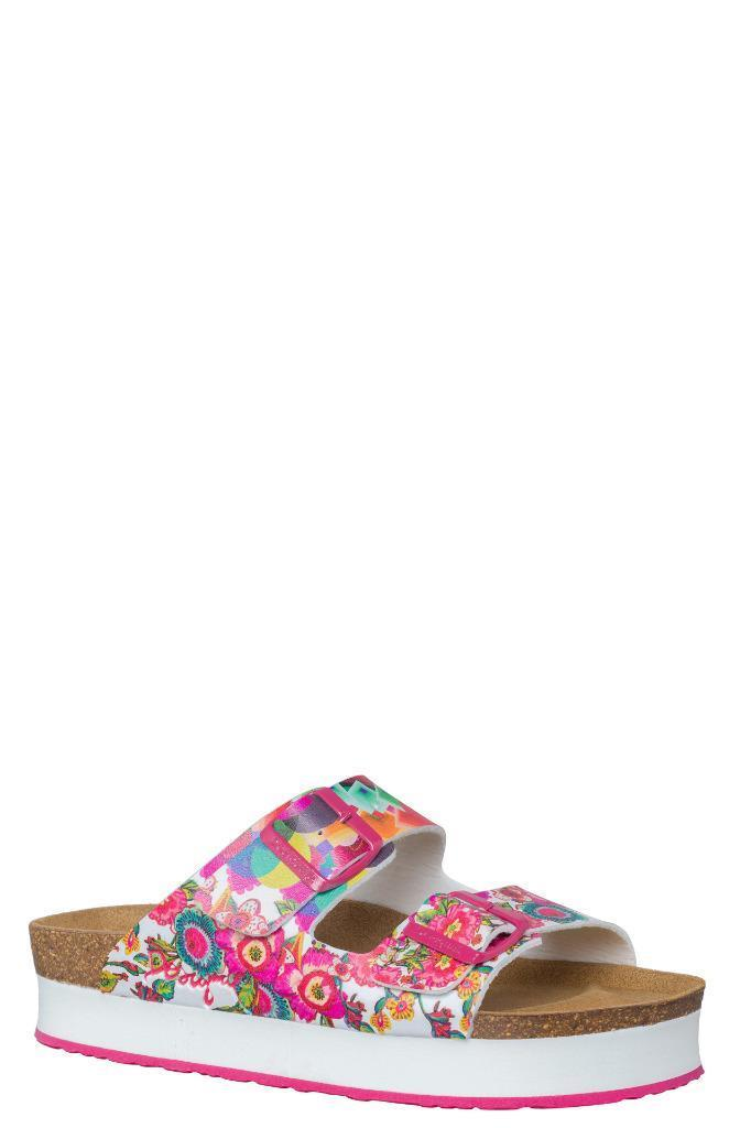Desigual Pink Silvi Sandale EU 37-41 UK4-7 UK4-7 UK4-7 Moulded Cork Footbed Adjustable Buckle 157e44