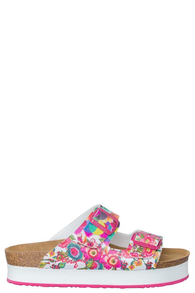 Desigual Pink Silvi Sandale EU 37-41 UK4-7 UK4-7 UK4-7 Moulded Cork Footbed Adjustable Buckle 157e44
