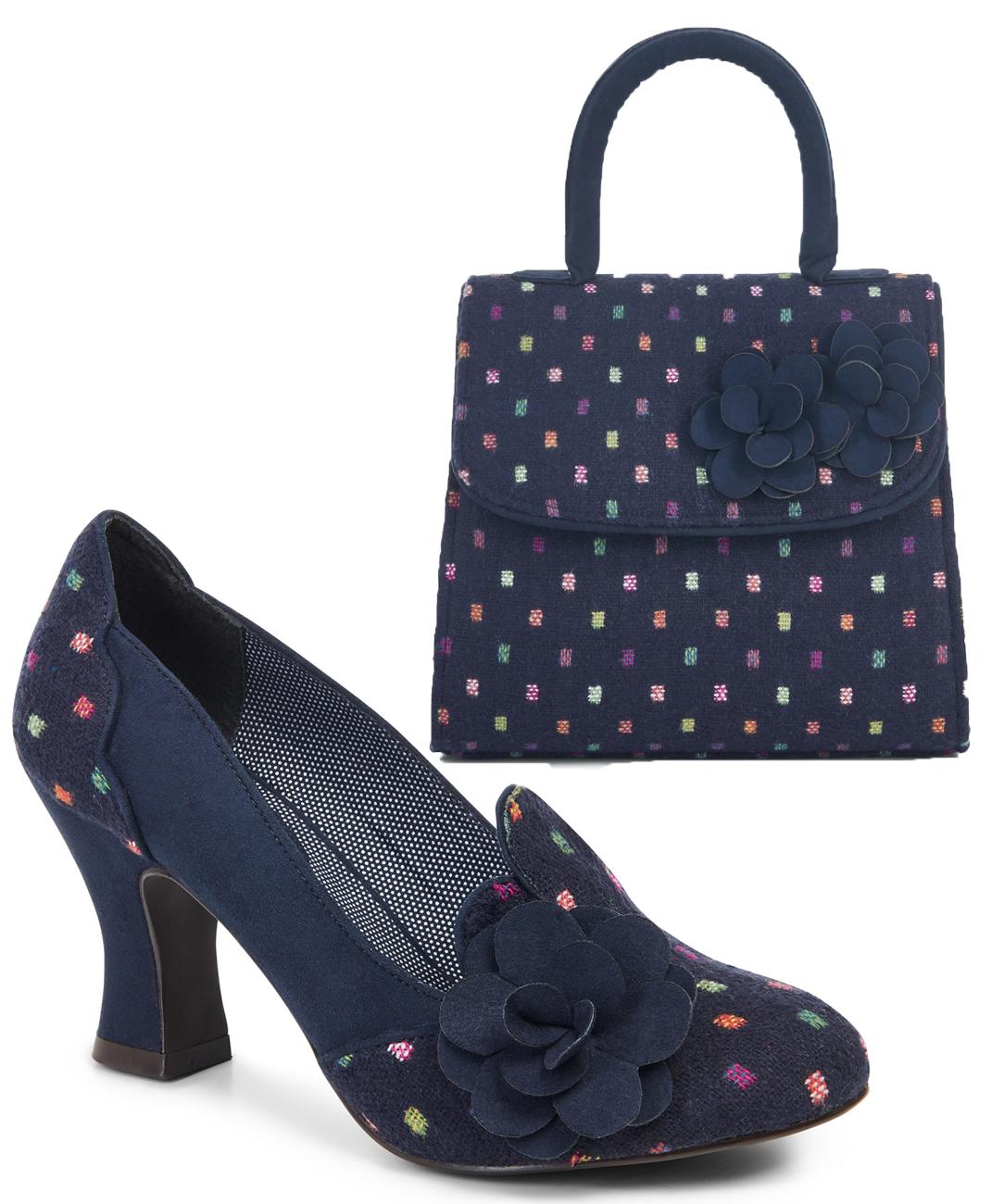 850fd3c7757b Ruby Shoo Lola Tweed Court Shoes   Matching Kingston Bag UK3-9 EU36 ...