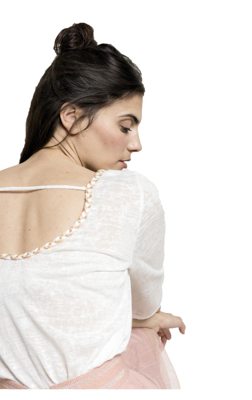 Grace /& Mila Paris Pineapple Embroidery Mignon Fine Tshirt Top Sz S-L UK 8-12