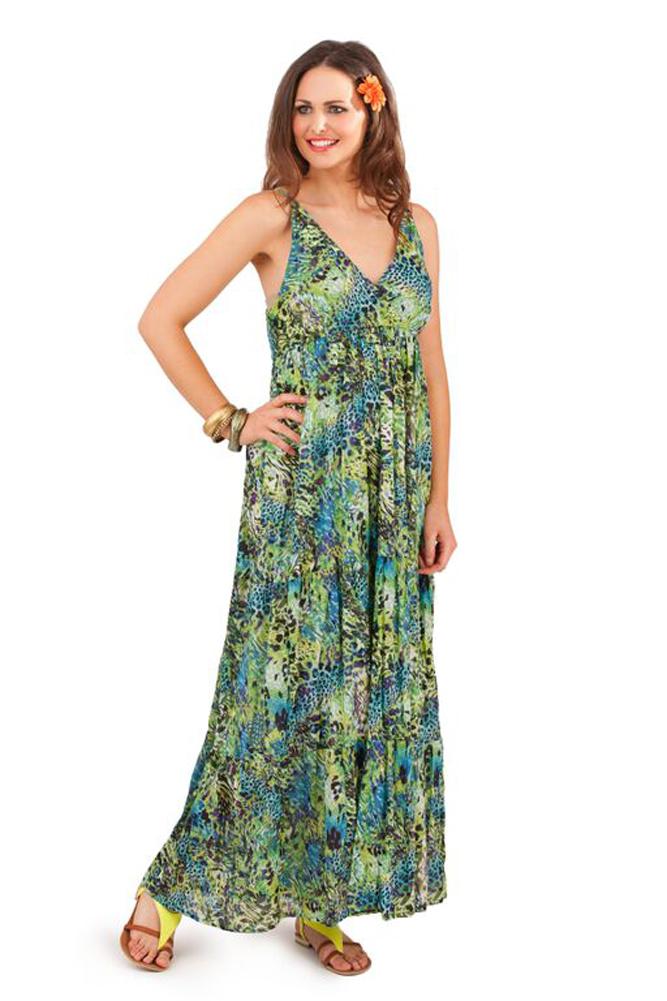 Pistachio Animal Print Summer Maxi Dress Purple   Green Mix UK 8-22 ... d9828cca8