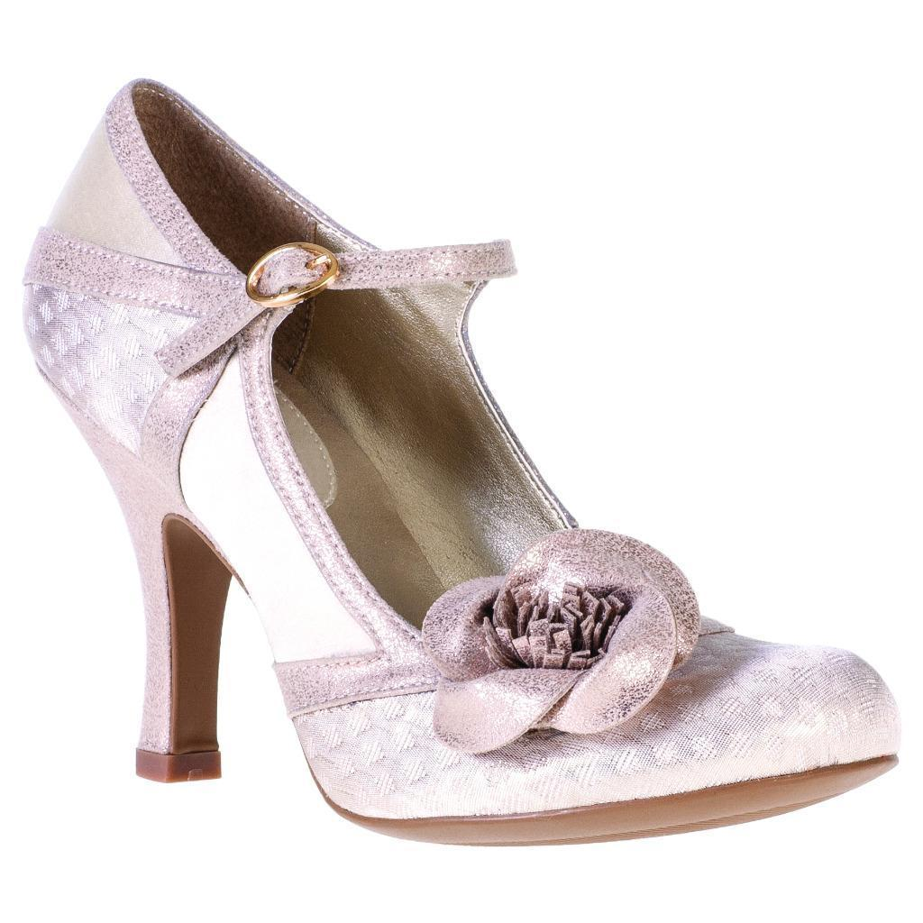 Ruby Shoo England Belle Schuhe UK 3-9 3-9 3-9 36-42 Bridal Slver Bronze Cream Rose 6ec183