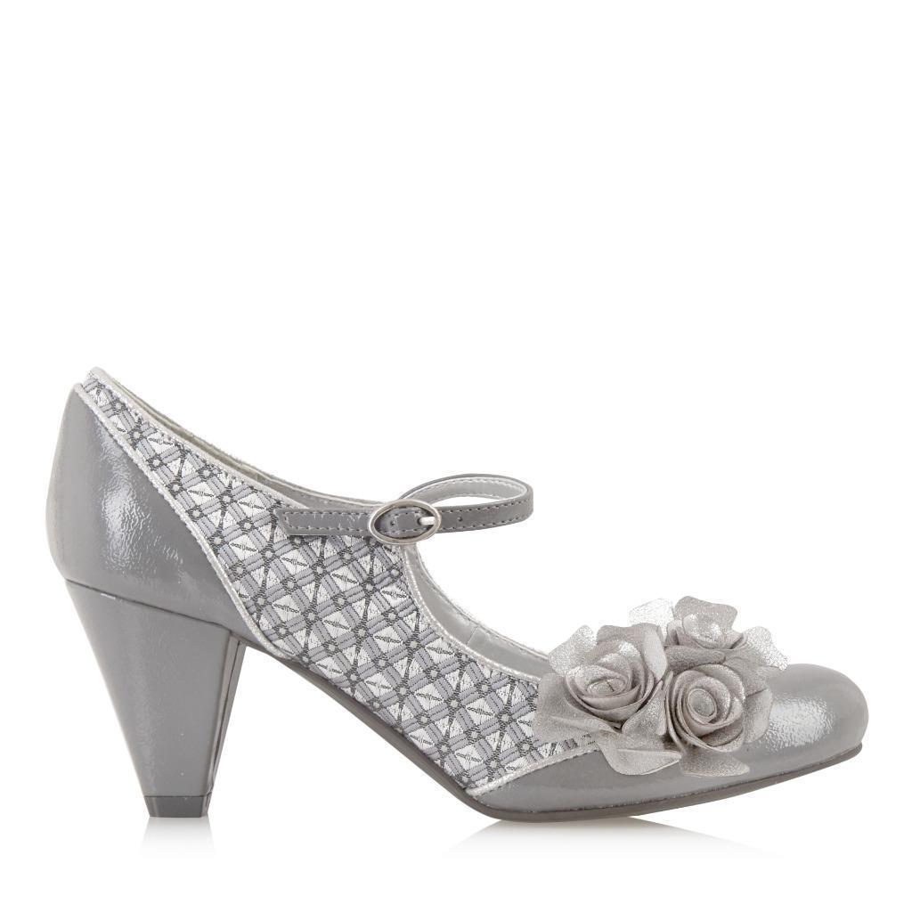 Pewter Heels For Wedding: Ruby Shoo UK 7 / 40 Pewter Silver Bridget Shoes & Florence