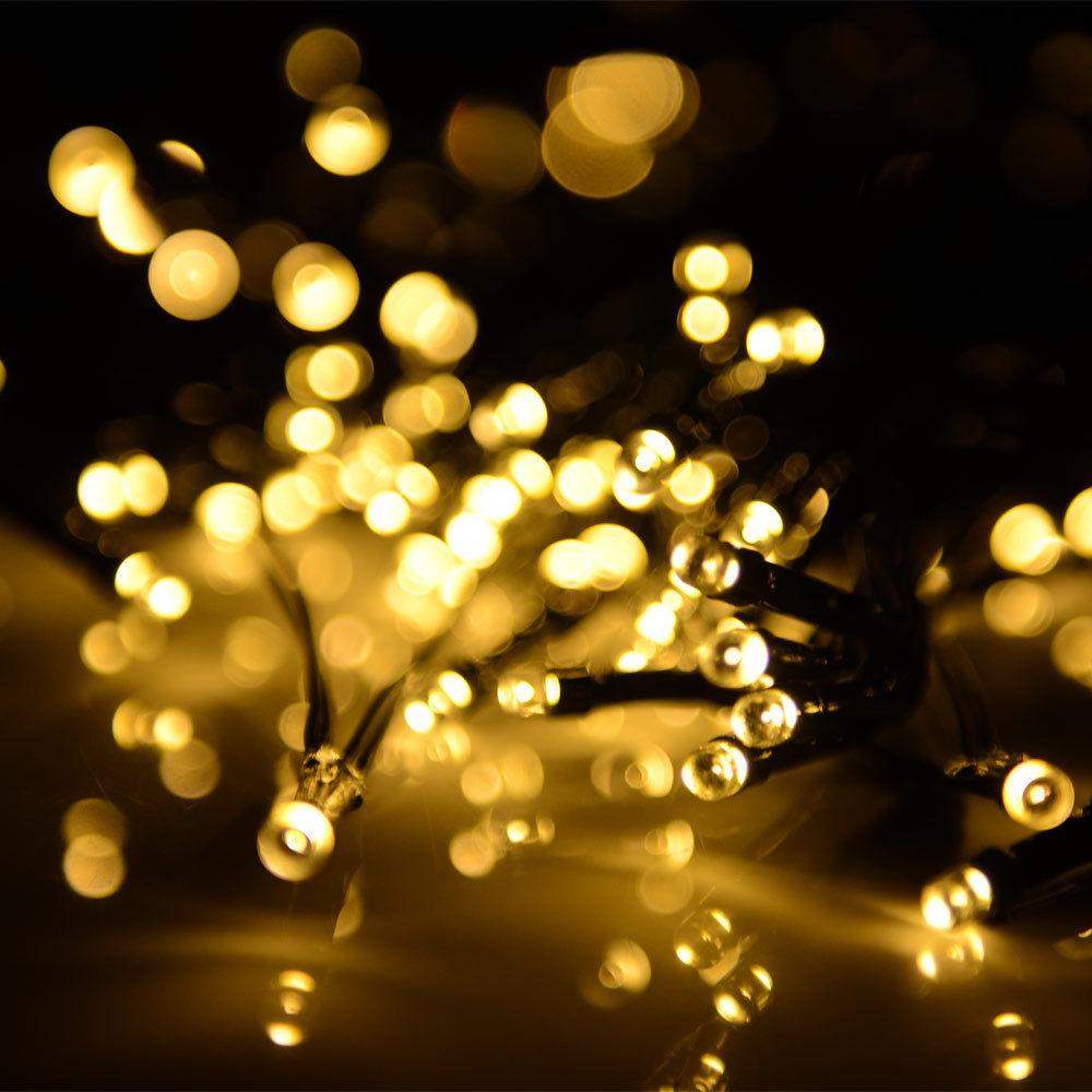Solar Powered LED String Fairy Light 72ft 22m 200 LEDs ...