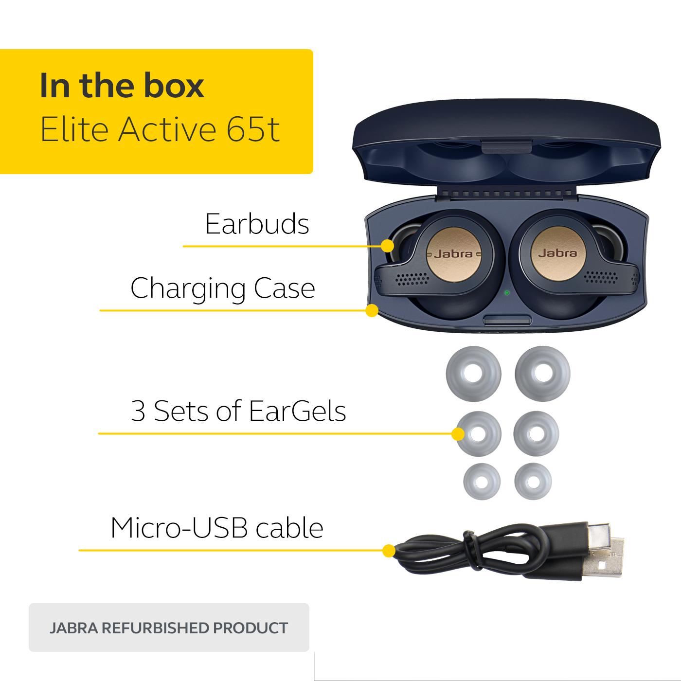 Jabra Elite Active 65t True Wireless Earbuds Manufacturer Refurbished Ebay