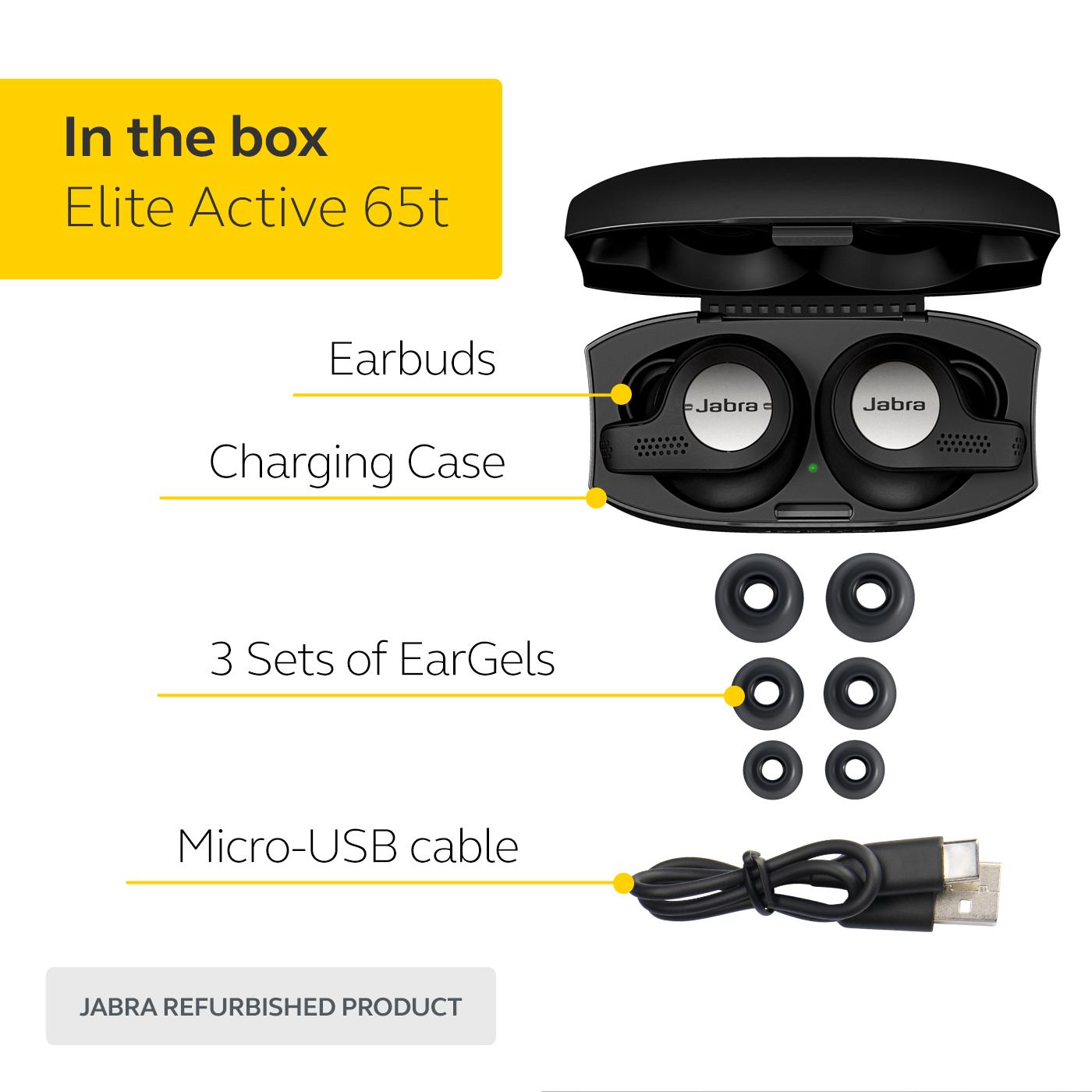 thumbnail 12 - Jabra Elite Active 65t True Wireless Earbuds (Certified Refurbished)