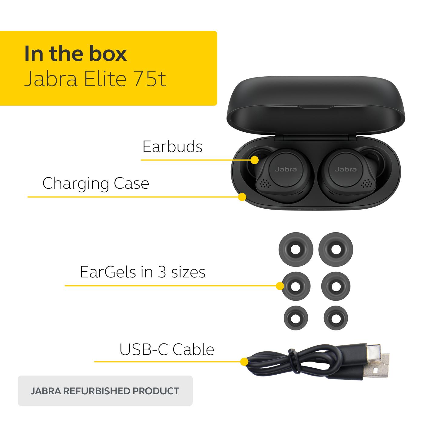 thumbnail 10 - Jabra-Elite-75t-Voice-Assistant-True-Wireless-earbuds-Certified-Refurbished