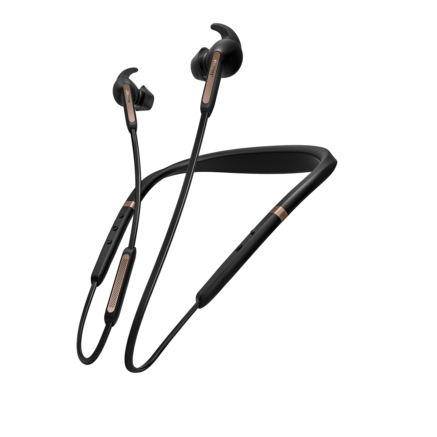 Jabra Elite 65e Alexa Wireless Neckband ANC Earbuds (Manufacturer Refurbished) Copper Black