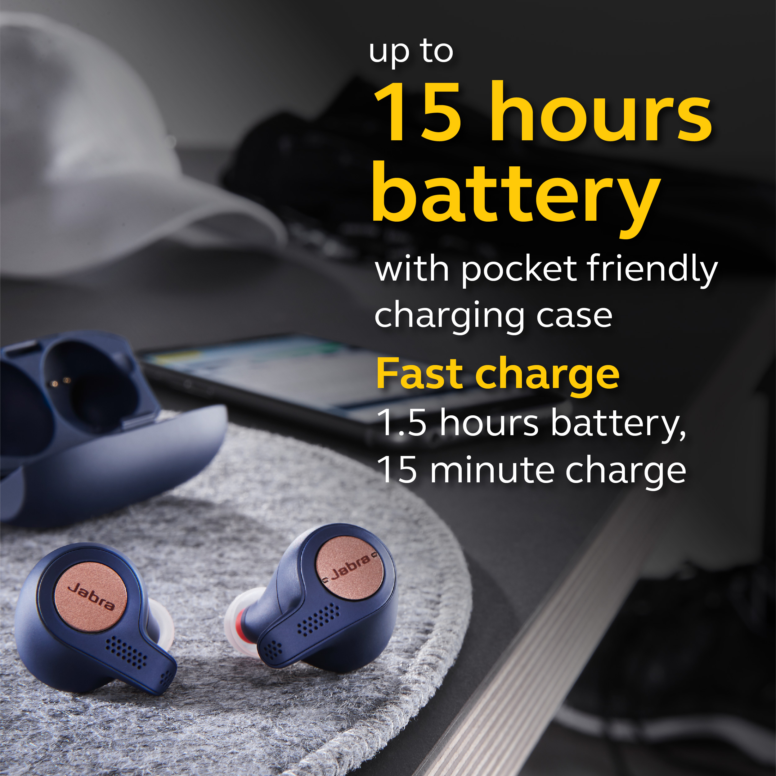 Jabra-Elite-Active-65t-Alexa-True-Wireless-Sport-Earbuds-with-Charging-Case-NEW thumbnail 10