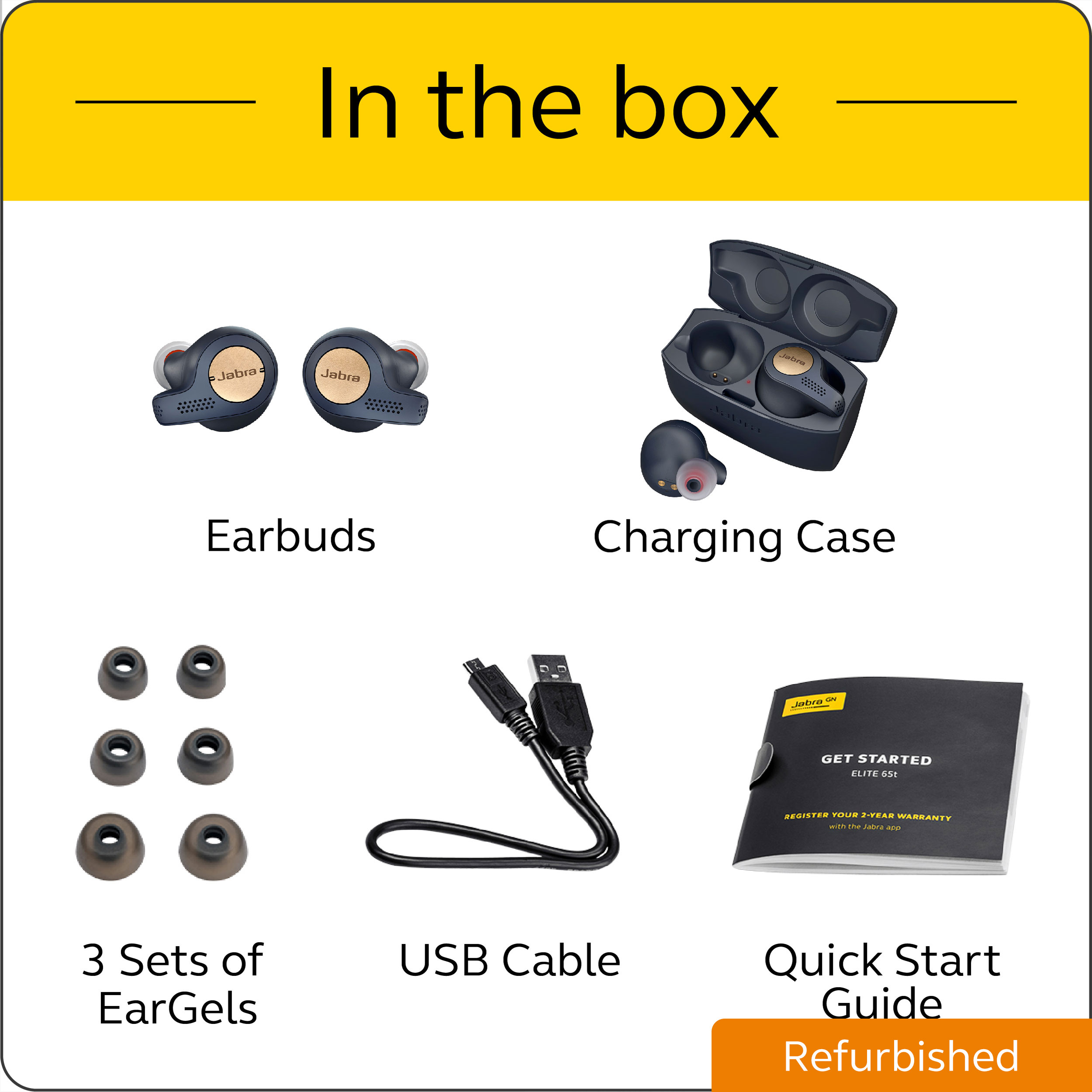 thumbnail 17 - Jabra Elite Active 65t True Wireless Earbuds (Certified Refurbished)