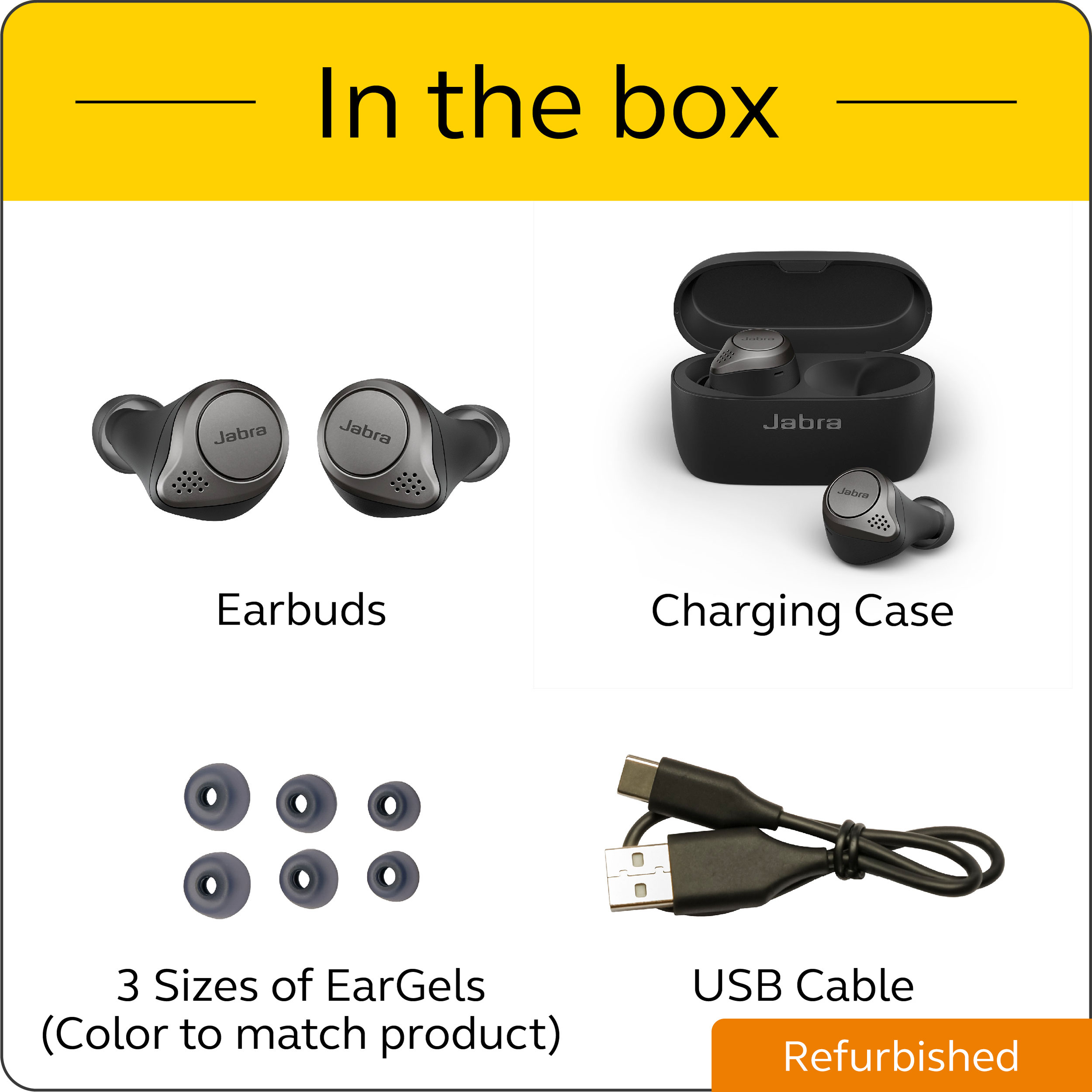 thumbnail 20 - Jabra-Elite-75t-Voice-Assistant-True-Wireless-earbuds-Certified-Refurbished