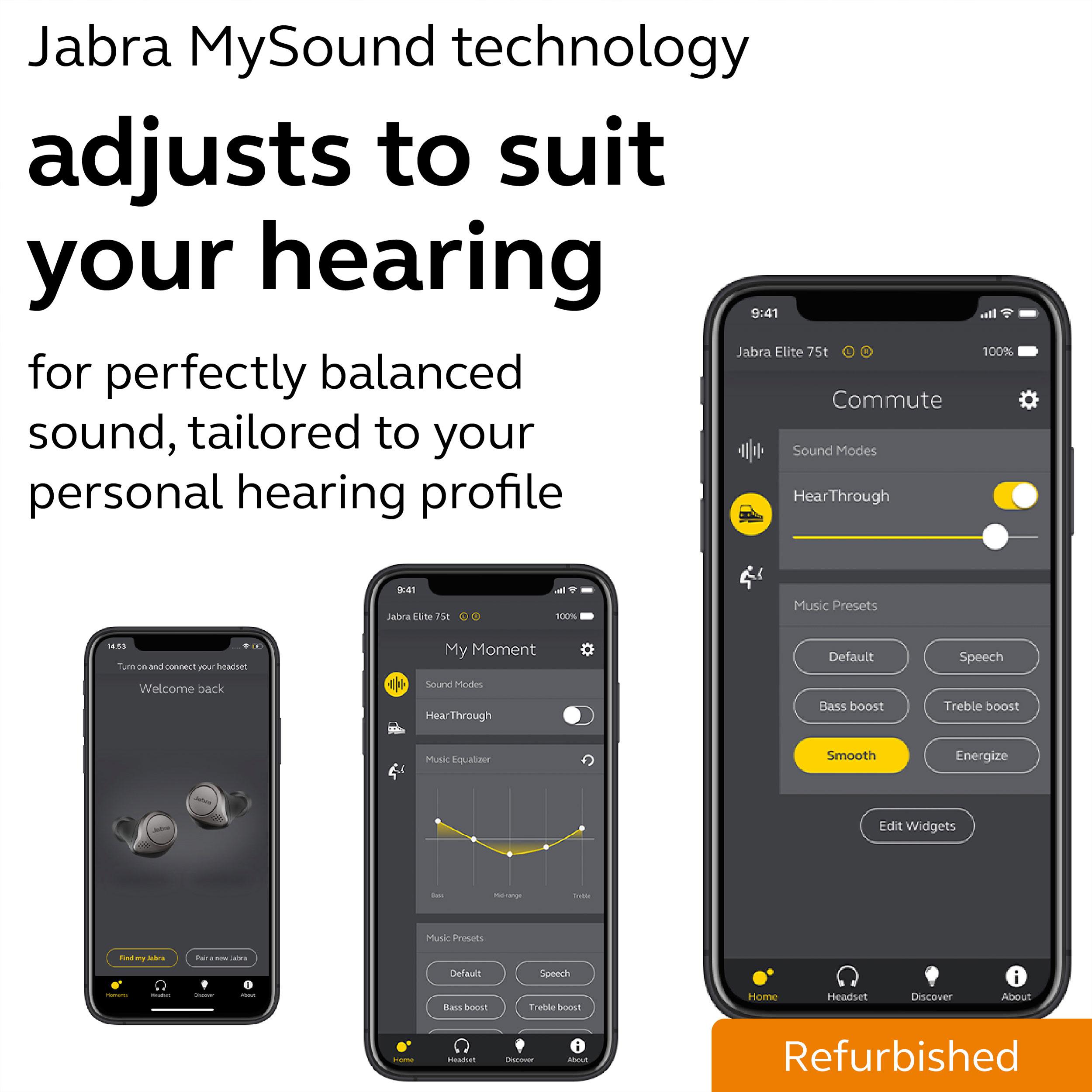 thumbnail 11 - Jabra Elite Active 75t True Wireless Earbuds Certified Refurbished