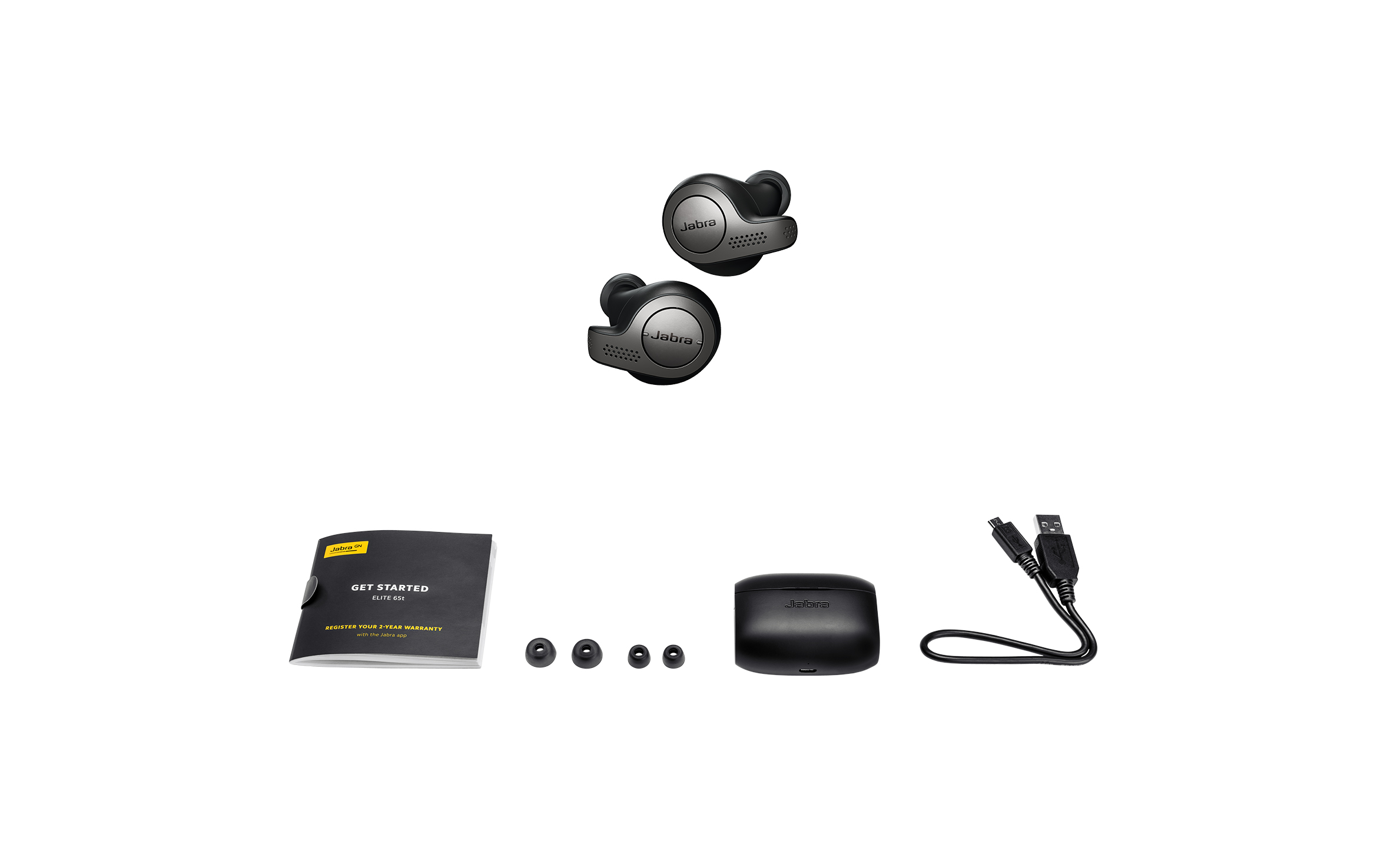 Jabra-Elite-65t-Alexa-Enabled-True-Wireless-Earbuds-with-Charging-Case-NEW thumbnail 8