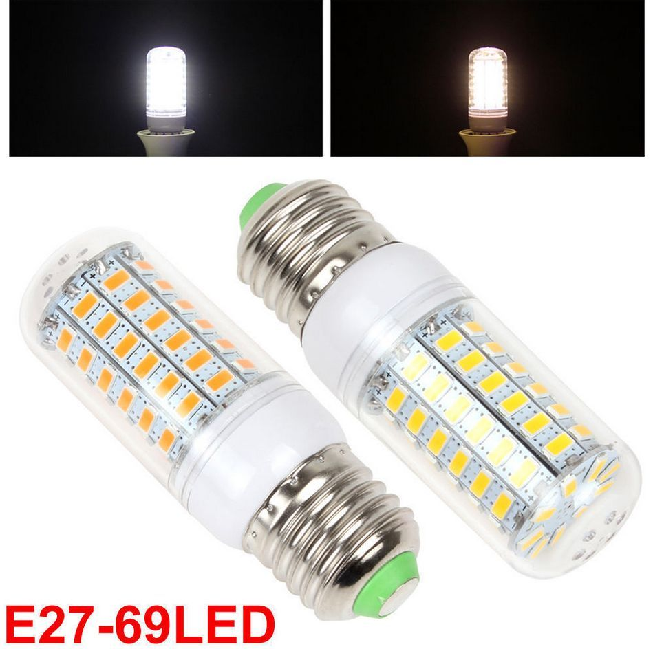 e27 110v 220v 13w 69x 5630 smd led corn bulb home room light warm white white ebay. Black Bedroom Furniture Sets. Home Design Ideas