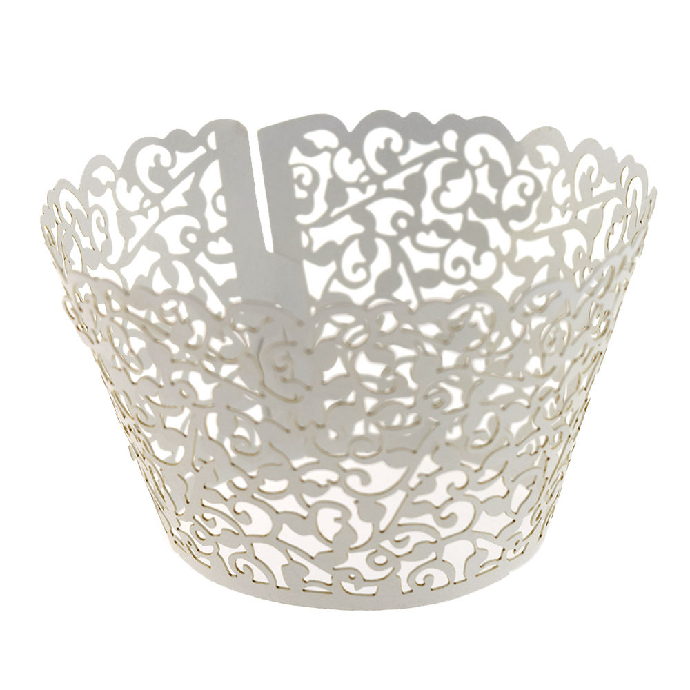 New 12pcs Birthday Filigree Vine Lace Cupcake Wrappers ...