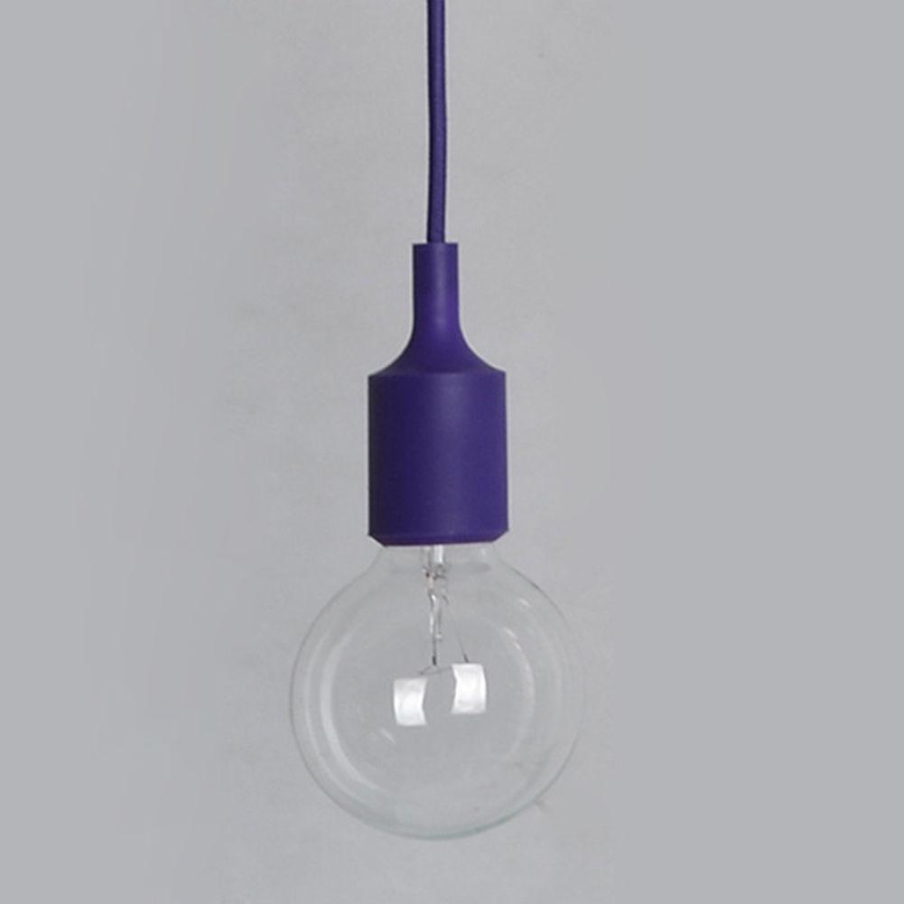 1xsilicone e27 home ceiling pendant lamp light bulb holder