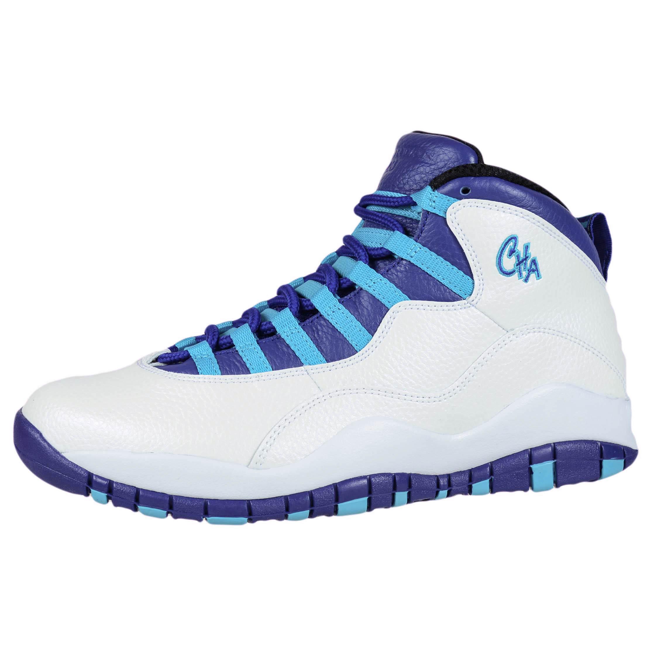... nike air jordan retro 10 charlotte white concord blue lagoon 310805 107  size 8