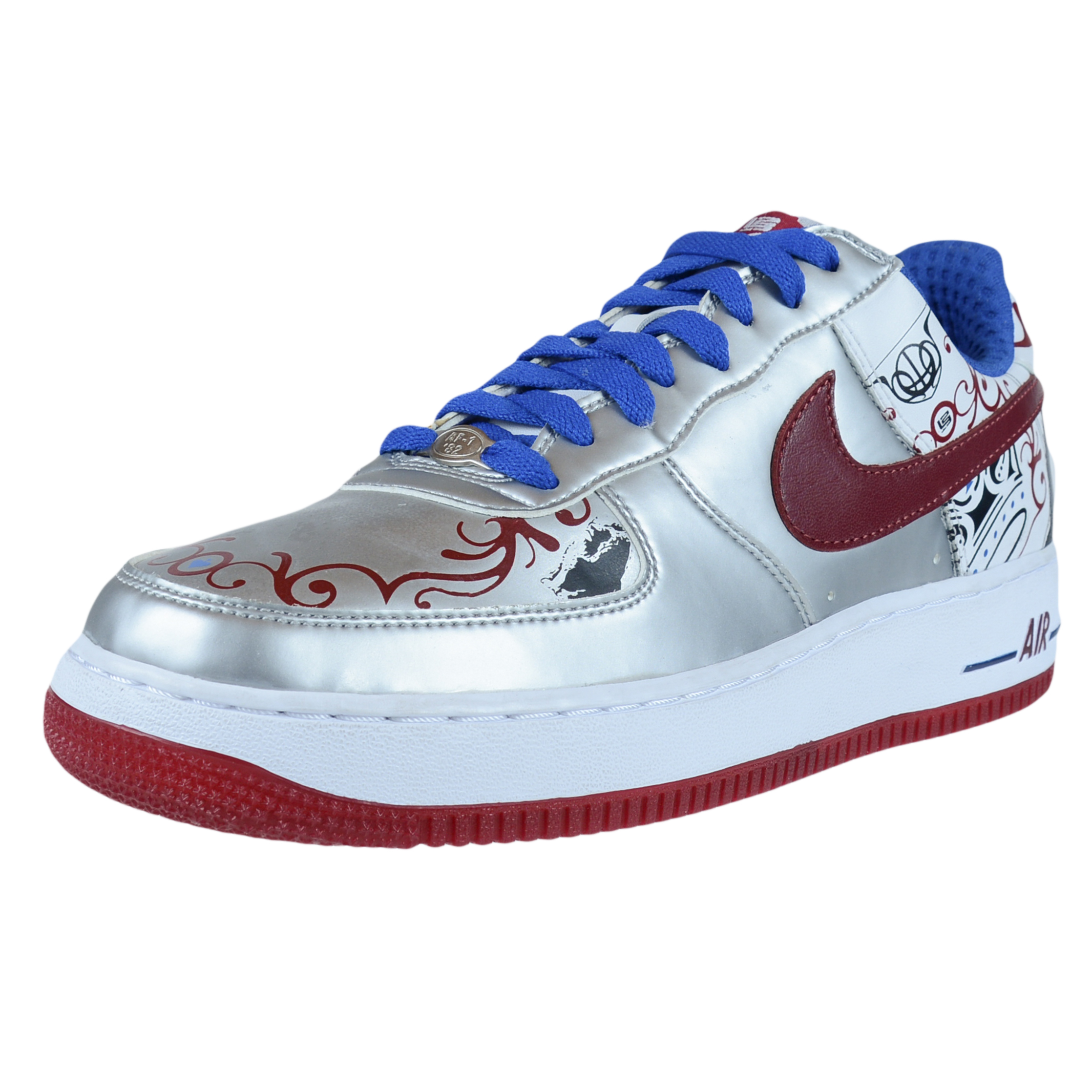 NIKE AIR FORCE 1 PREMIUM LEBRON COLLECTION ROYALE SILVER 313985 061 SIZE 9