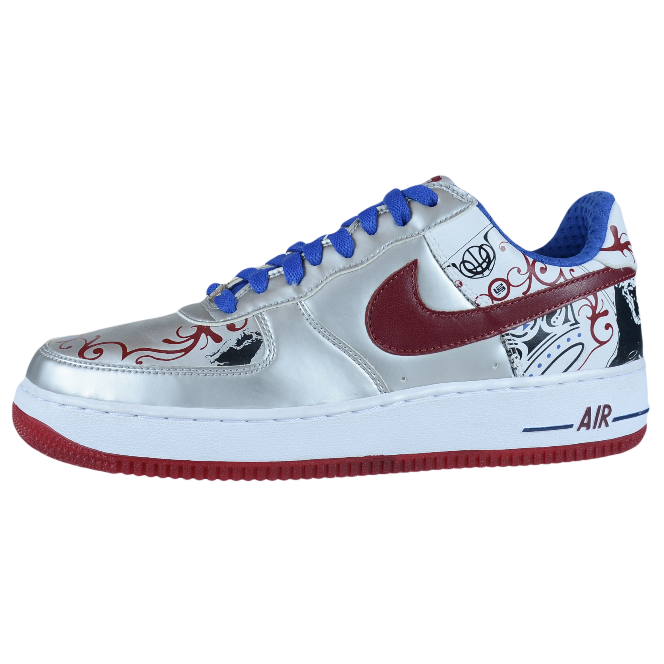 e1d6fa0717d NIKE AIR FORCE 1 PREMIUM LEBRON COLLECTION ROYALE SILVER 313985 061 SIZE 9