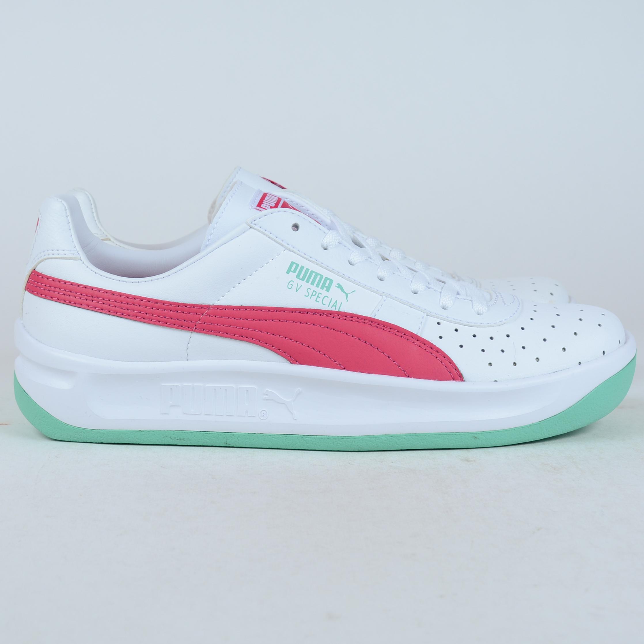 new concept 546b8 a77ec puma gv special white green
