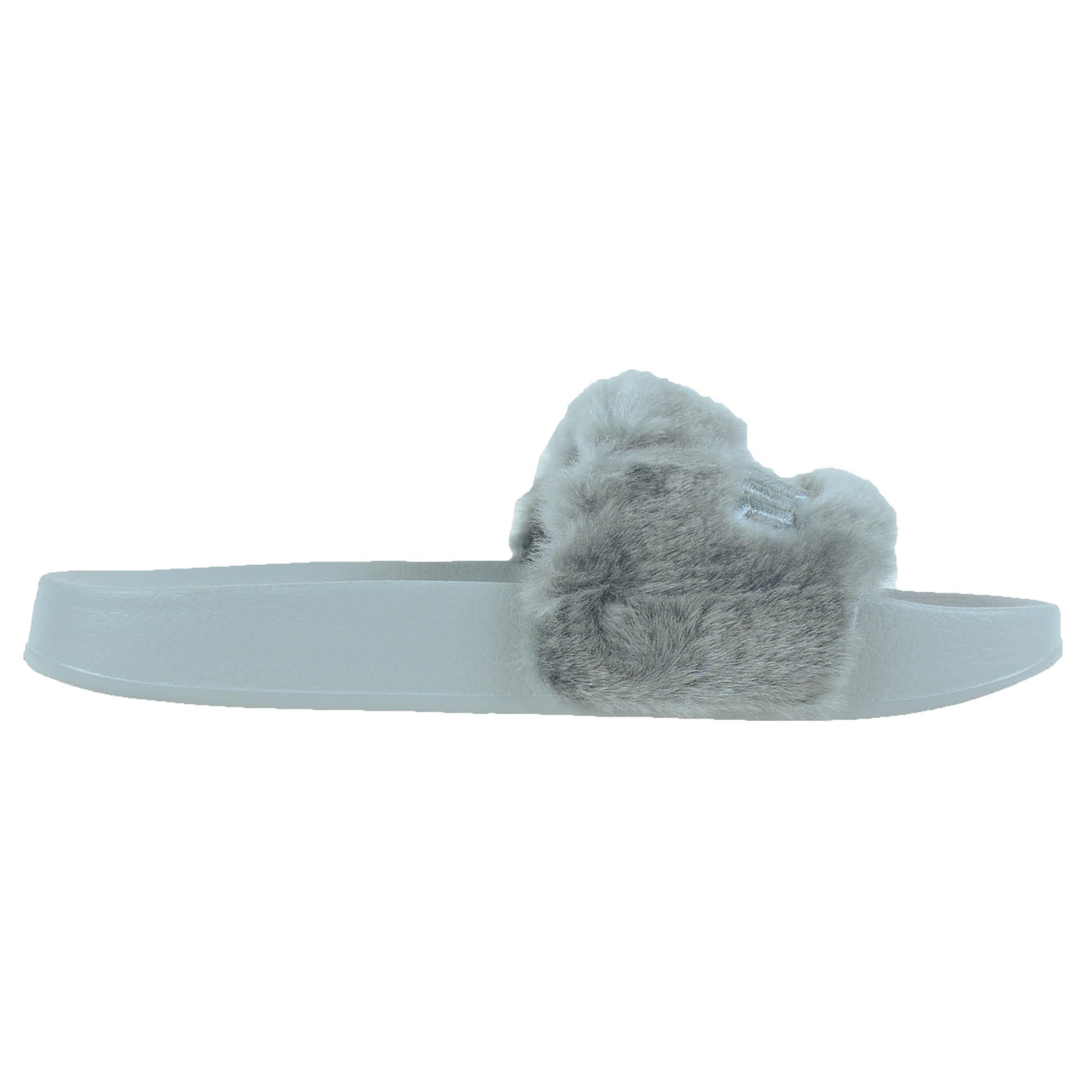 puma by rihanna leadcat fenty faux fur slide sandals ebay. Black Bedroom Furniture Sets. Home Design Ideas