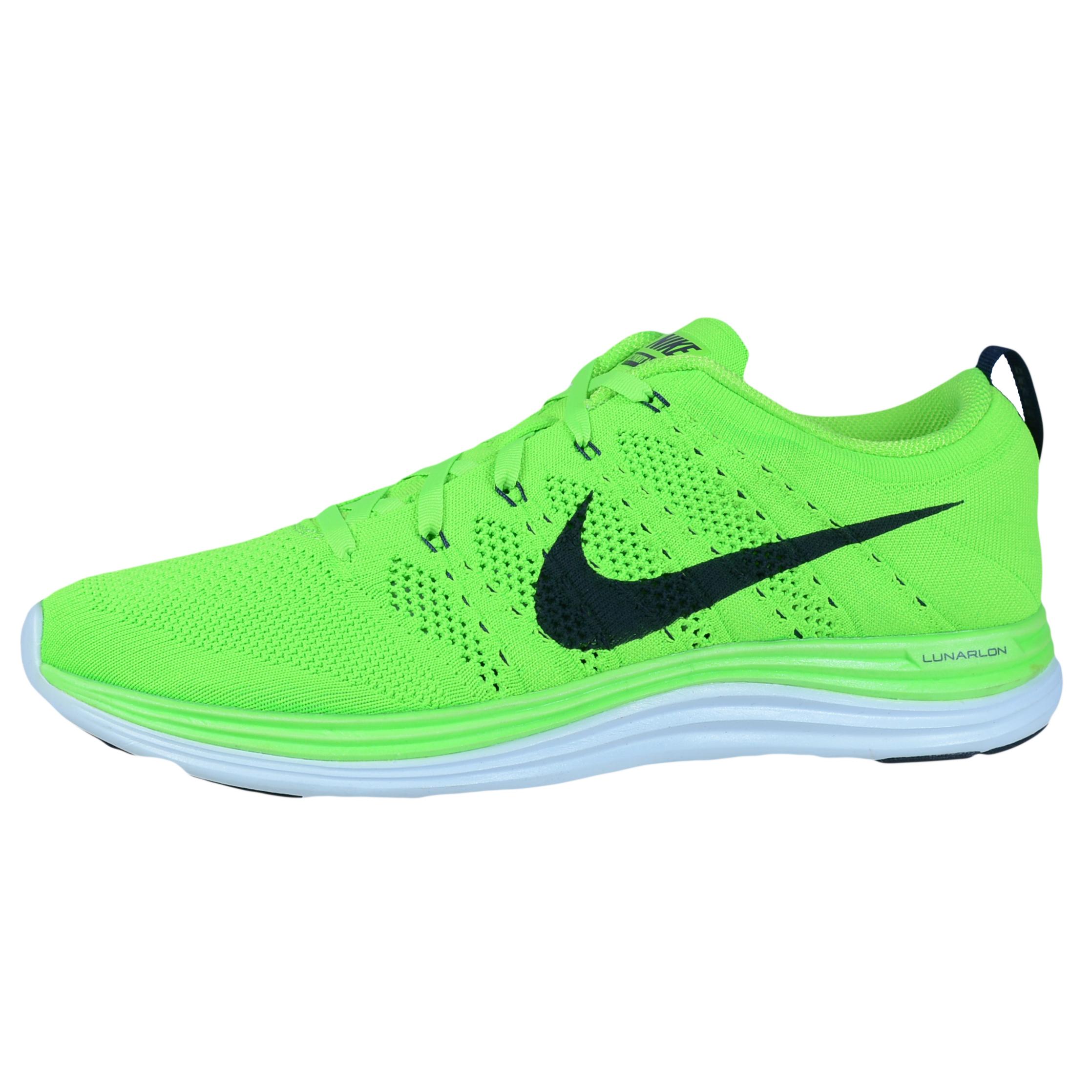 quality design d0ebd 4ca53 ... NIKE FLYKNIT LUNAR1+ RUNNING SHOES ELECTRIC GREEN DARK OBSIDIAN 554887  304 Buy Nike Flyknit Lunar 1 Review Shoes Mens ...