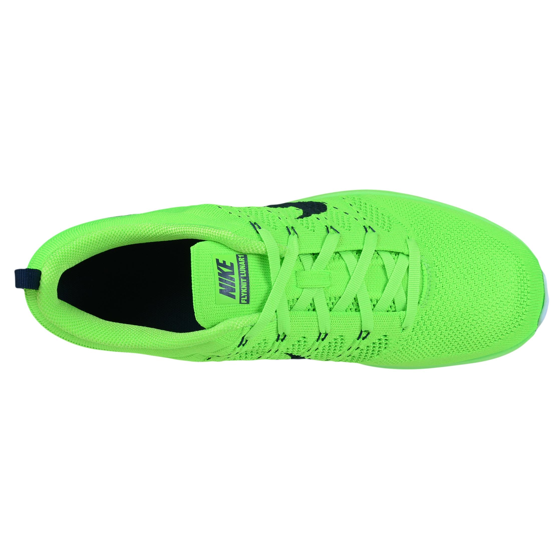 online store 42eeb 3193d ... NIKE FLYKNIT LUNAR1+ RUNNING SHOES ELECTRIC GREEN DARK OBSIDIAN 554887  304 ...