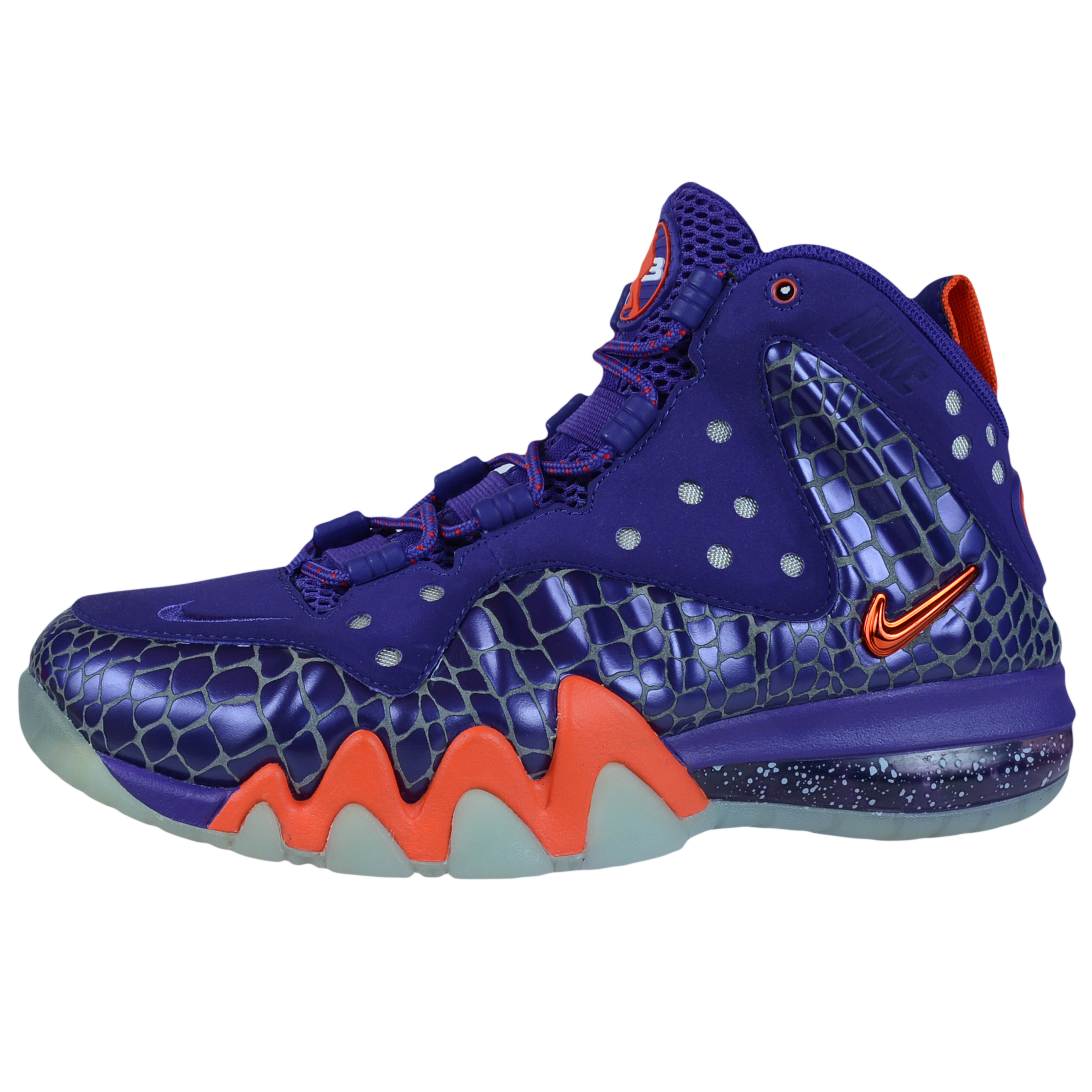 NIKE BARKLEY POSITE MAX PHOENIX SUNS COURT PURPLE TEAM ORANGE 555097 581