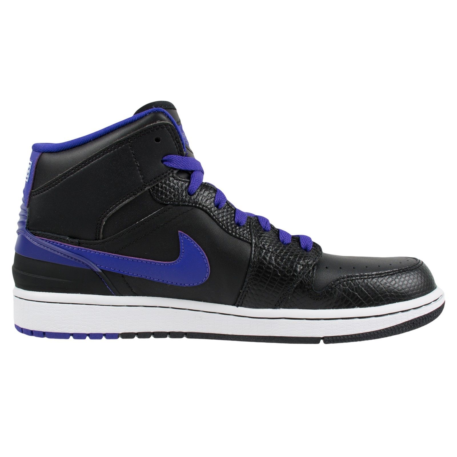 NIKE AIR JORDAN 1 RETRO 86 BLACK DARK CONCORD WHITE 644490 014