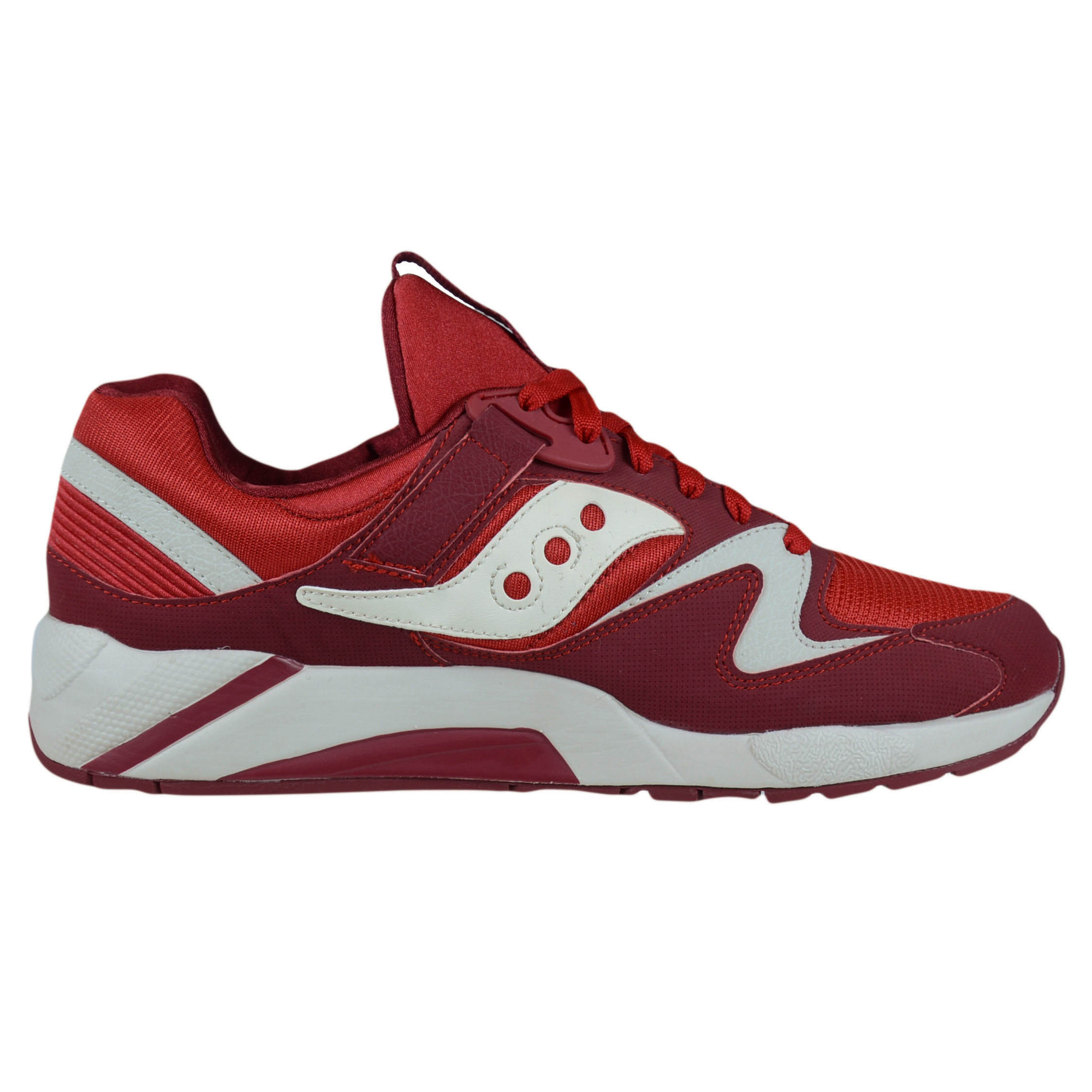 SAUCONY GRID 9000 RETRO RUNNING SHOES RED WHITE 70077-17