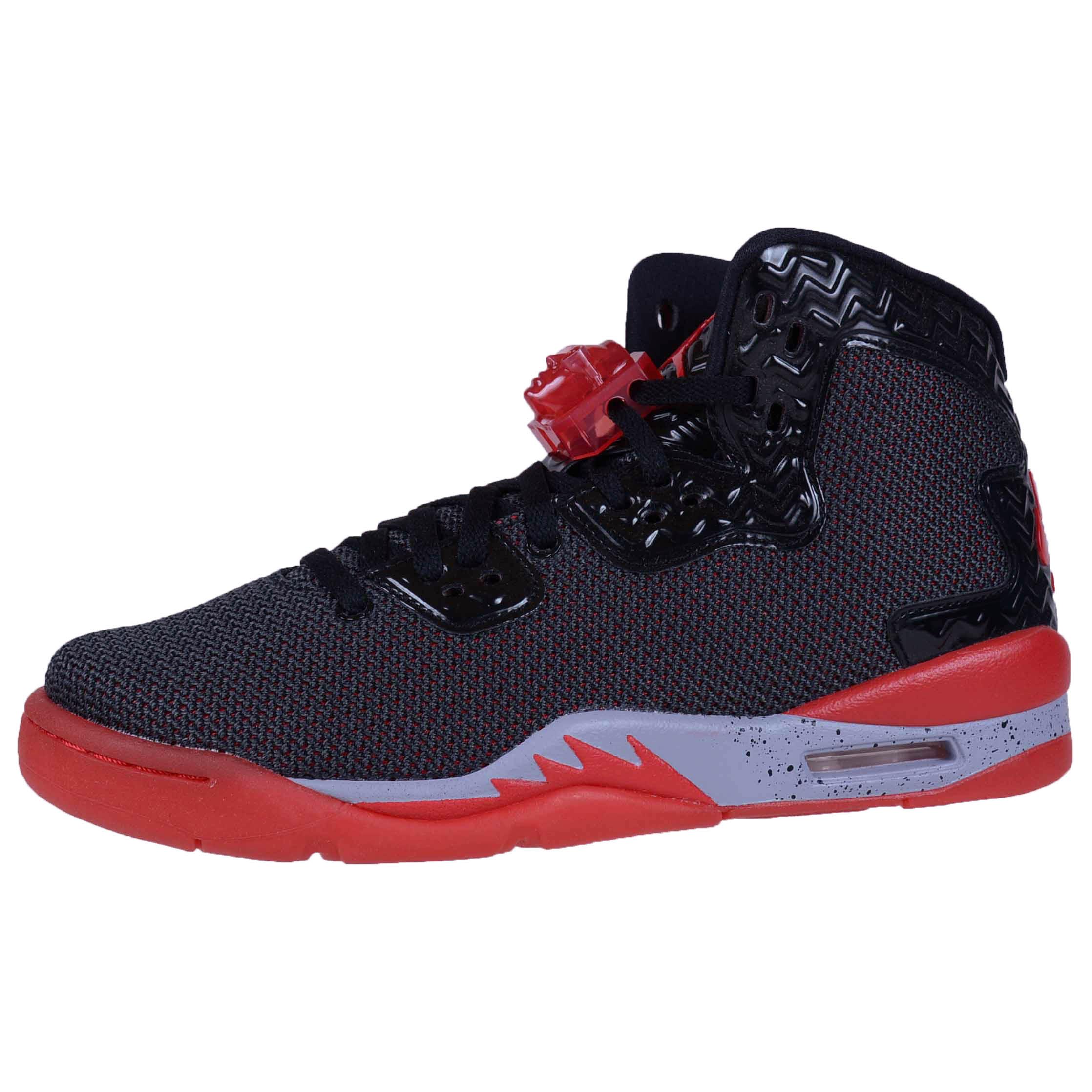 NIKE BOYS AIR JORDAN SPIKE FORTY BG BLACK FIRE RED CEMENT GREY 807542 002