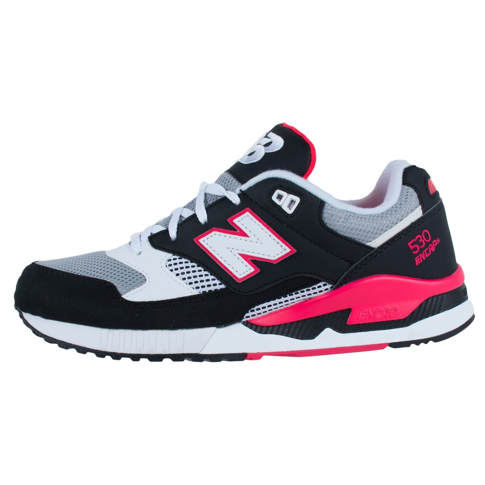 NEW BALANCE 530 90S RUNNING SHOES BLACK GREY MAGMA PINK M530BGM
