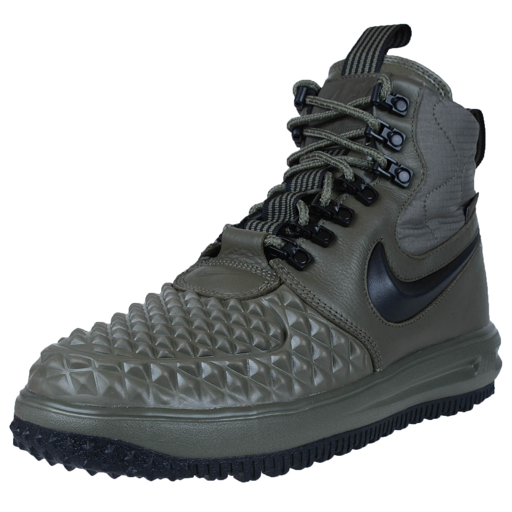 pretty nice 35583 04bf8 ... NIKE LUNAR FORCE 1 DUCKBOOT 17 WATERPROOF BOOTS MEDIUM OLIVE BLACK 916682  202 ...