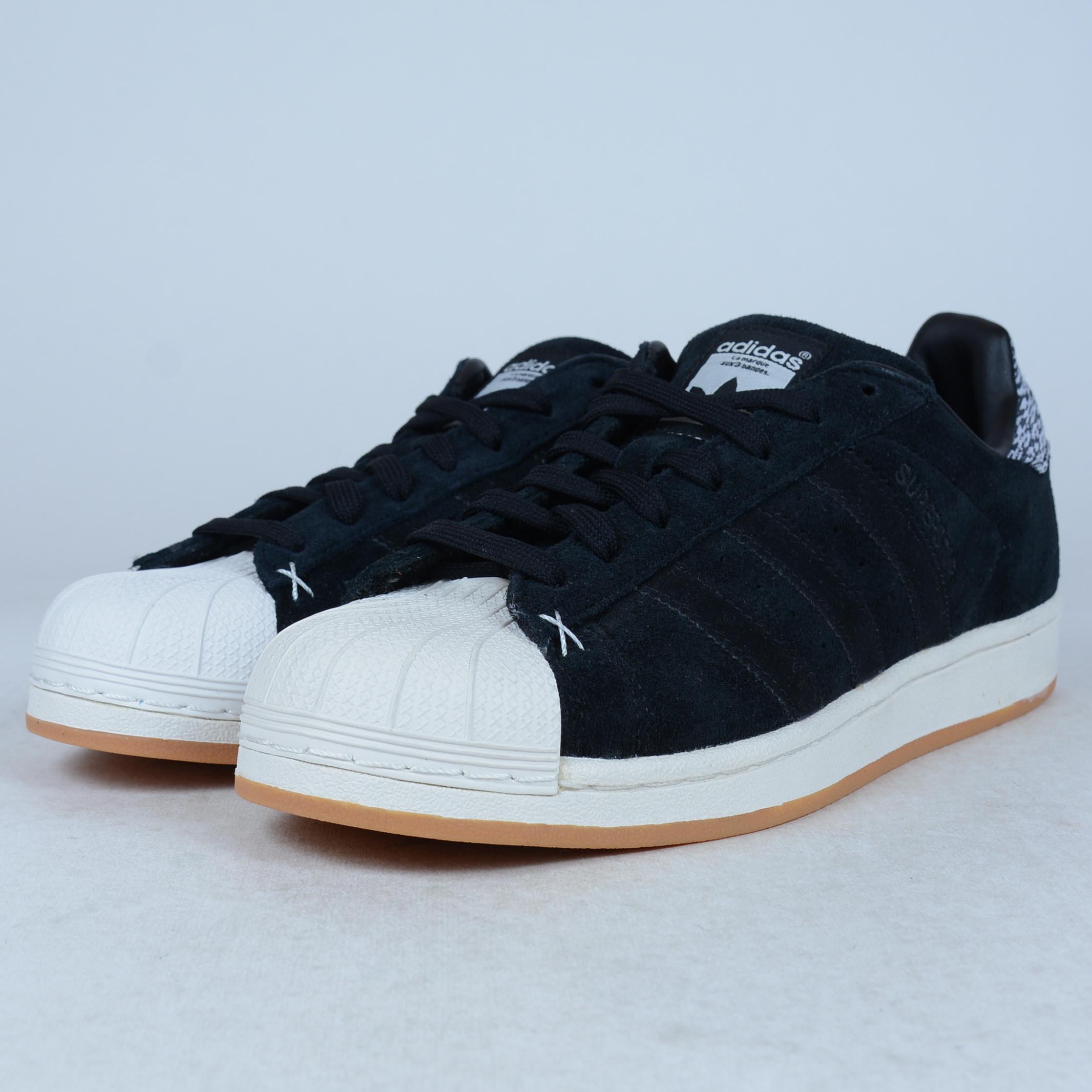 hot sales b33e3 657f5 switzerland adidas superstar black white shell toe dbc02 6d65b