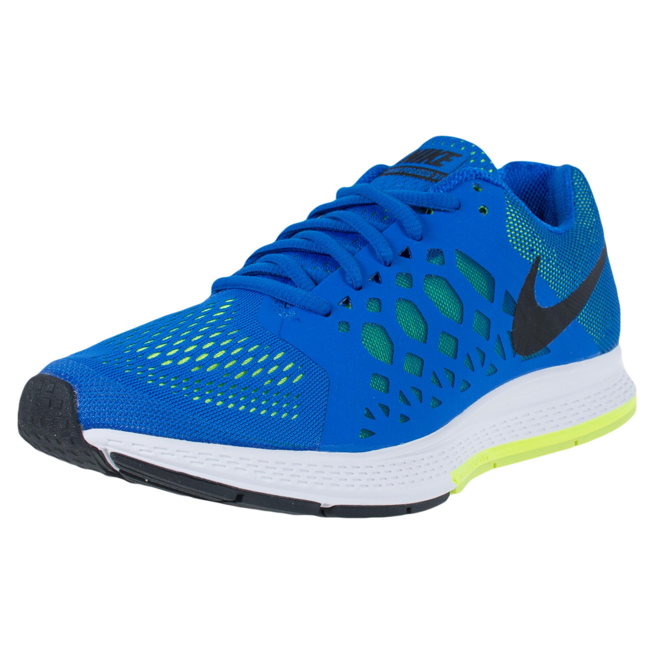 6969 sale; nike air zoom pegasus 31 running sneakers hyper cobalt black  volt 652925 400