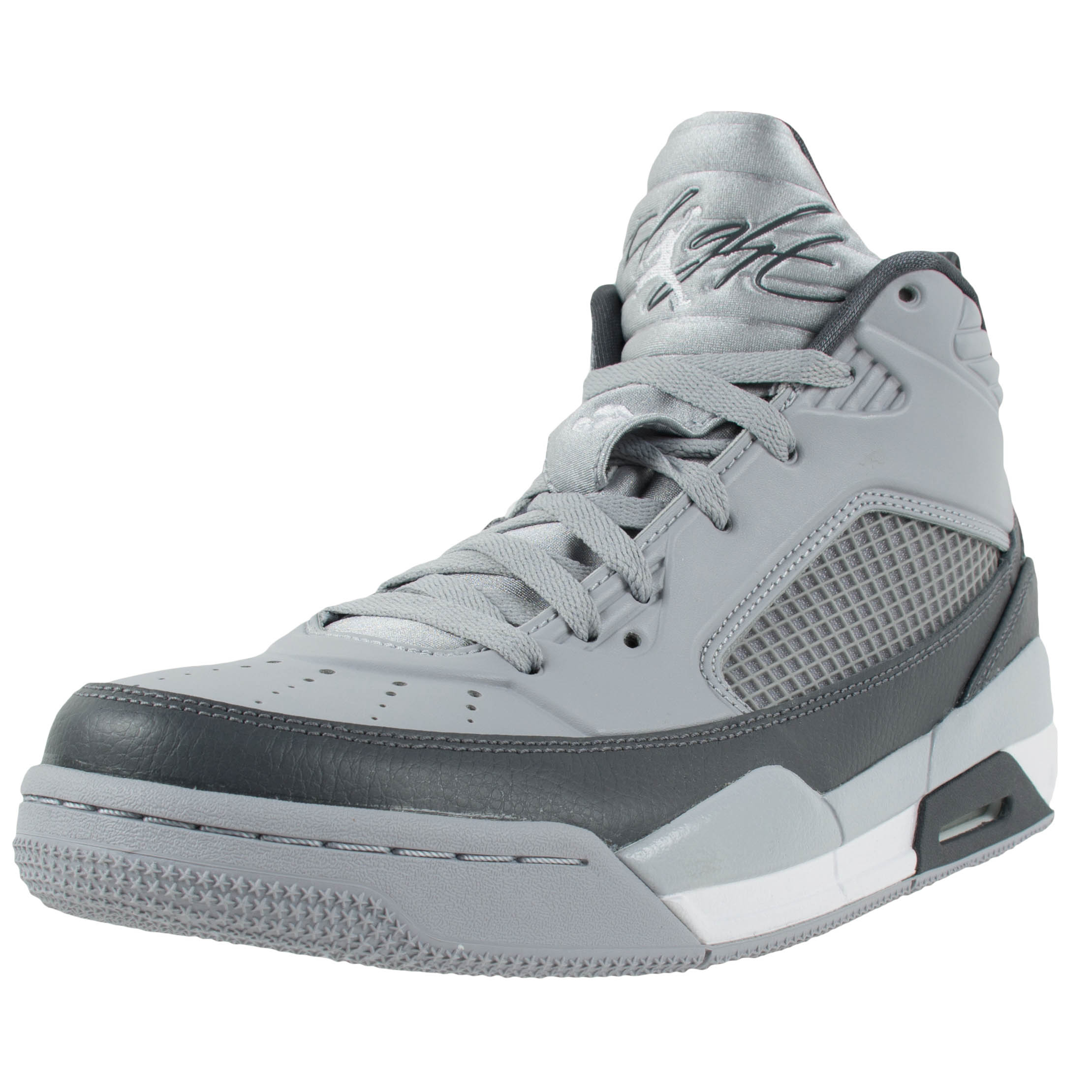 97c1ef5bb07bd6 NIKE JORDAN FLIGHT 9.5 BASKETBALL SHOES WOLF GREY WHITE DARK GREY 654262  006 ...