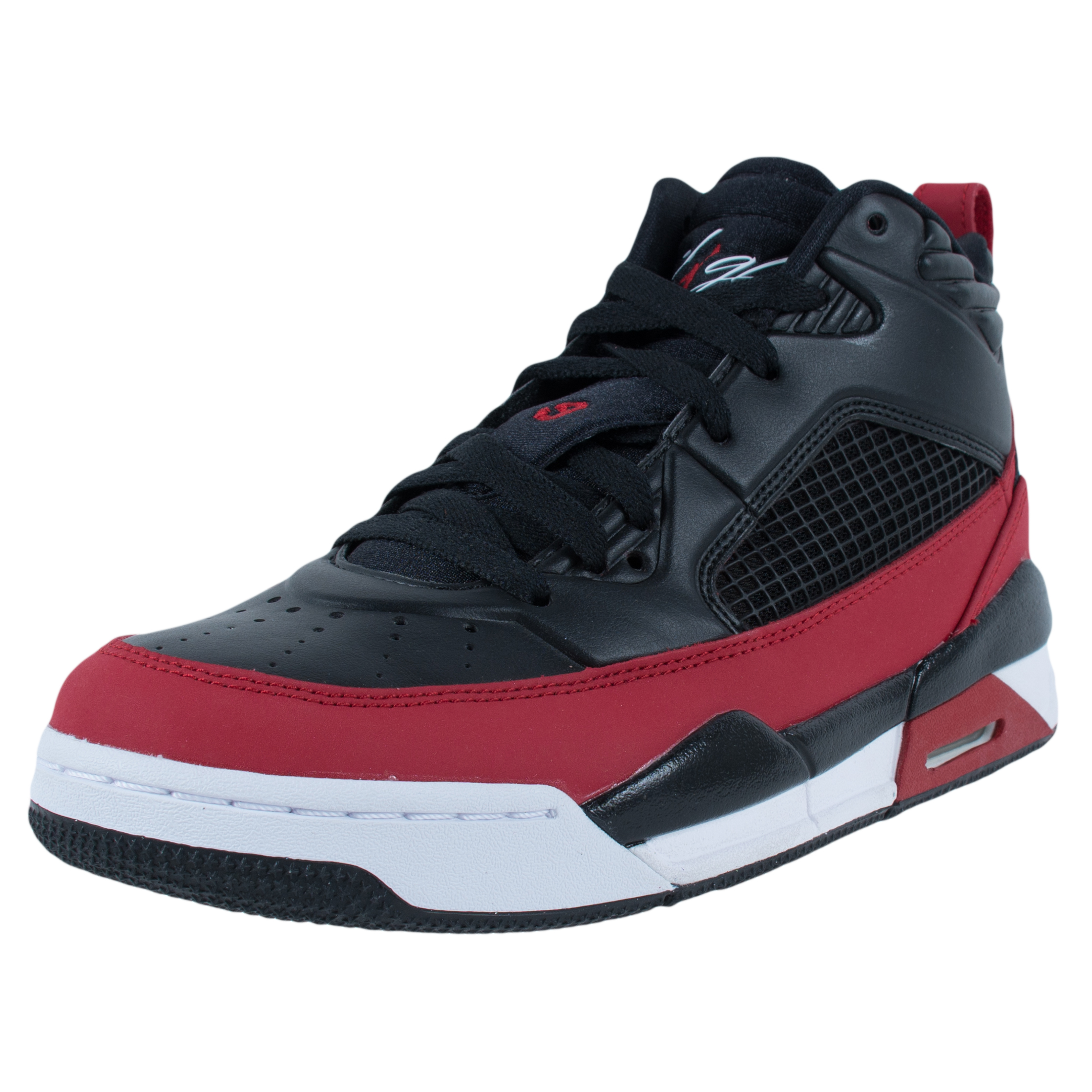 NIKE BOYS JORDAN FLIGHT 9.5 BG BASKETBALL SHOES BLACK GYM RED WHITE 654975  002