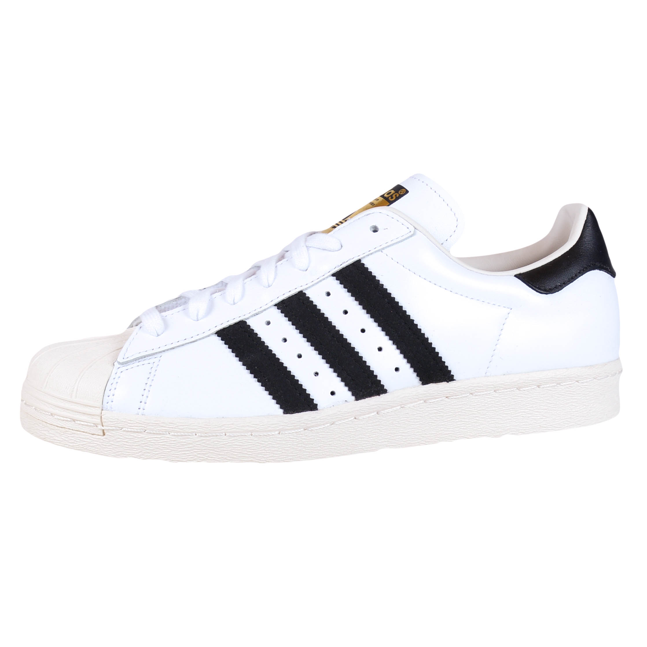 adidas superstar 80s retro basketball shoes white black