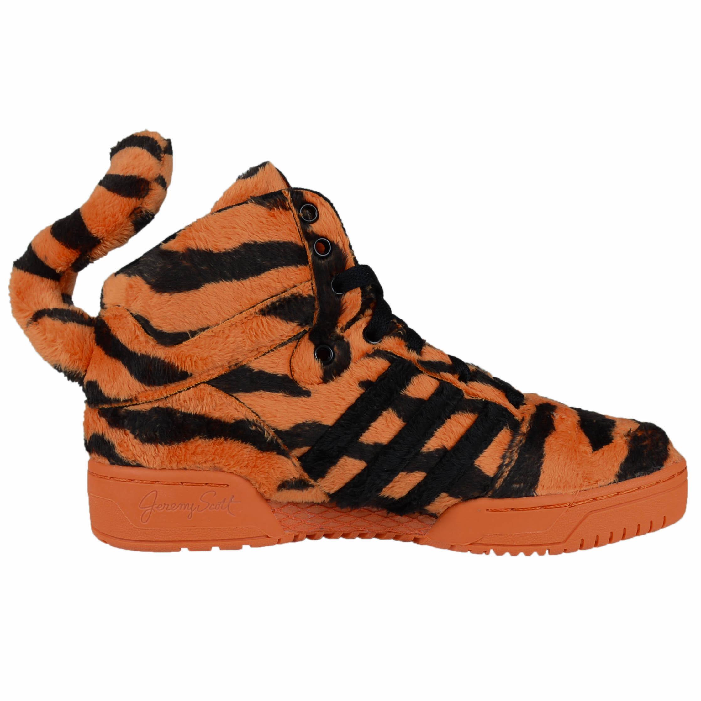 separation shoes d443f d629e ADIDAS X JEREMY SCOTT UNISEX JS TIGER FASHION SNEAKERS ORANGE BLACK M29010